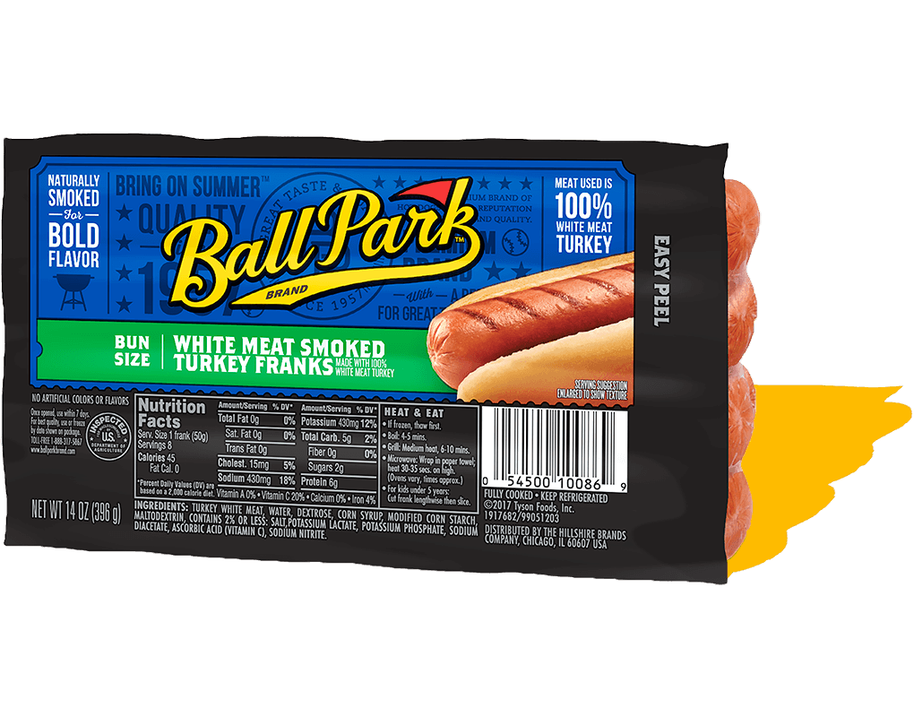 Ballpark Hot Dog Nutrition
