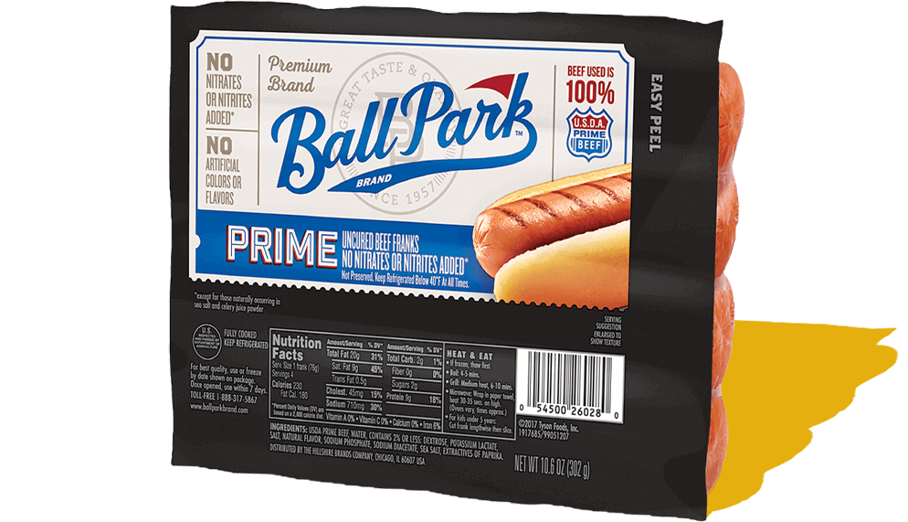 Bun Size Prime Beef Hot Dogs