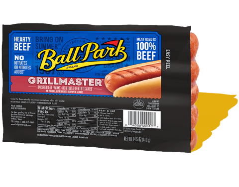 Grillmaster Hearty Beef Hot Dogs Small